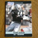 Thomas Benson Los Angeles Raiders LB Card No. 540 - 1990 NFL Pro Set Football Card