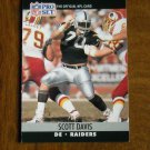 Scott Davis Los Angeles Raiders DE Card No. 542 (FB542) 1990 NFL Pro Set Football Card