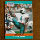 Reggie Roby Miami Dolphins P Card No. 563 (FB563) 1990 NFL Pro Set Football Card