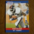 Perry Williams New York Giants CB Card No. 600 (FB600) 1990 NFL Pro Set Football Card