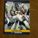Courtney Hall San Diego Chargers C Card No. 628 (FB628) 1990 NFL Pro Set Football Card