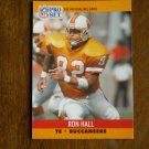 Ron Hall Tampa Bay Buccaneers TE Card No. 655 (FB655) 1990 NFL Pro Set Football Card