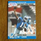 Andre Ware Detroit Lions QB Card No. 675 - 1990 NFL Pro Set Football Card