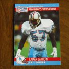 Lamar Lathon Houston Oilers LB 683 Card No. 683 (FB683) 1990 NFL Pro Set Football Card