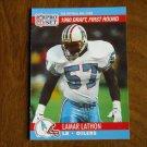 Lamar Lathon Houston Oilers LB 683 Card No. 683 - 1990 NFL Pro Set Football Card