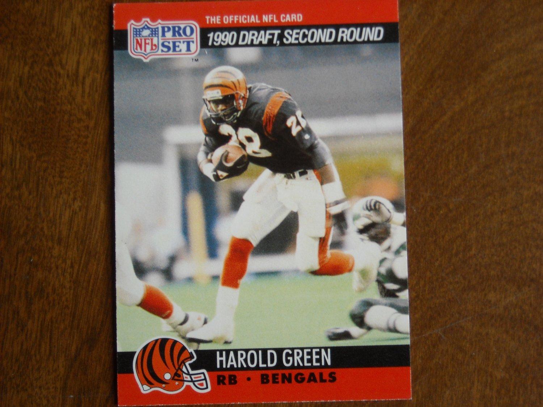 Harold Green Cincinnati Bengals RB Card No. 707 - 1990 NFL Pro Set Football Card