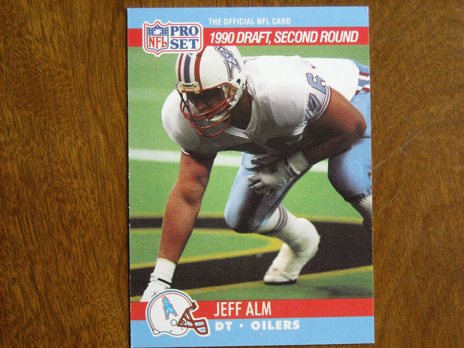 Jeff Alm Houston Oilers DT Card No. 710 - 1990 NFL Pro Set Football Card