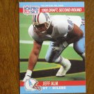 Jeff Alm Houston Oilers DT Card No. 710 (FB710) 1990 NFL Pro Set Football Card