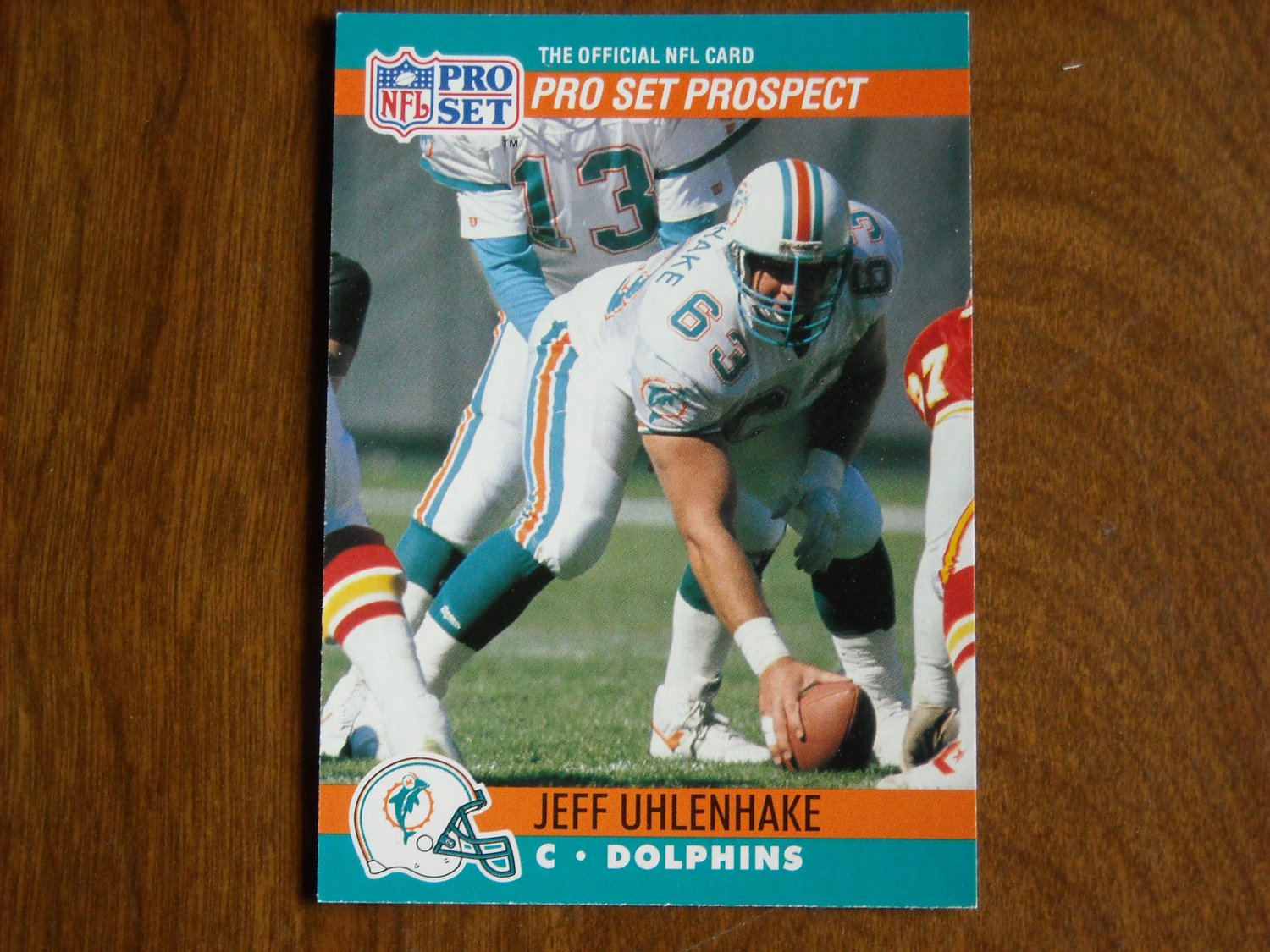 Jeff Uhlenhake Miami Dolphins #737 1990 NFL Pro Set Football Card