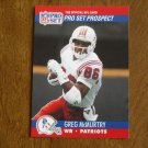 Greg McMurtry New England Patriots WR Card No. 740 - 1990 NFL Pro Set Football Card