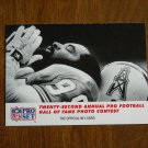 Twenty Second Annual Pro Football Hall of Fame Photo Contest Card No. 796