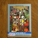 Super Bowl VI Tulane Stadium New Orleans Cowboys vs Dolphins No. 6 - 1990 NFL Pro Set Card