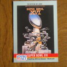 Super Bowl XVI Pontiac Silverdome Detroit 49ers vs Bengals No. 16 - 1990 NFL Pro Set Card
