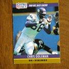 Chris Doleman Minnesota Vikings DE Card No. 18 - 1990 NFL Pro Set Football Card