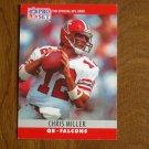 Chris Miller Atlanta Falcons QB Card No. 35 - 1990 NFL Pro Set Football Card