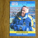 John Robinson Los Angeles Rams Head Coach Card No. 176 - 1990 NFL Pro Set Football Card