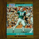 Bob Griese Miami Dolphins QB Card No. 24 - 1990 NFL Pro Set Football Card