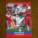 Fred Marion New England Patriots S Card No. 204 - 1990 NFL Pro Set Football Card