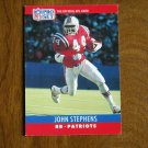 John Stephens New England Patriots RB Card No. 207 - 1990 NFL Pro Set Football Card
