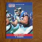 John Elliott New York Giants T Card No. 224 - 1990 NFL Pro Set Football Card