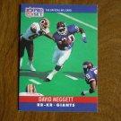 David Meggett New York Giants RB KR Card No. 228 - 1990 NFL Pro Set Football Card