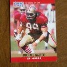 Michael Walter San Francisco 49ers LB Card No. 298 - 1990 NFL Pro Set Football Card
