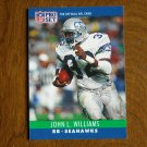 John L. Williams Seattle Seahawks RB Card No. 306 - 1990 NFL Pro Set Football Card