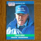 Chuck Knox Seattle Seahawks Head Coach Card No. 308 - 1990 NFL Pro Set Football Card