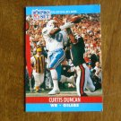 Curtis Duncan Houston Oilers WR Card No. 509 - 1990 NFL Pro Set Football Card