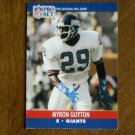 Myron Guyton New York Giants S Card No. 595  (FB595) 1990 NFL Pro Set Football Card