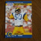Frank Stams Los Angeles Rams LB Card No. 736 - 1990 NFL Pro Set Football Card