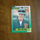 Matt Williams San Francisco Giants SS - 3B Card No. 41 - 1990 Topps Baseball Card