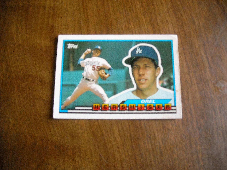 Orel Hershiser Los Angeles Dodgers 1 1989 Topps Big