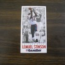 Lemuel Stinson Chicago Bears CB Card No. 374 - Game Day 1992 National Football Card