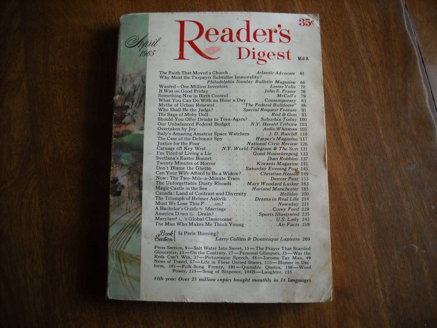 Reader's Digest Magazine April 1965 Good Friday Key West Justice for the poor