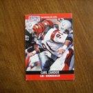 Carl Zander Cincinnati Bengals LB Card No. 91 - 1990 NFL Pro Set Football Card