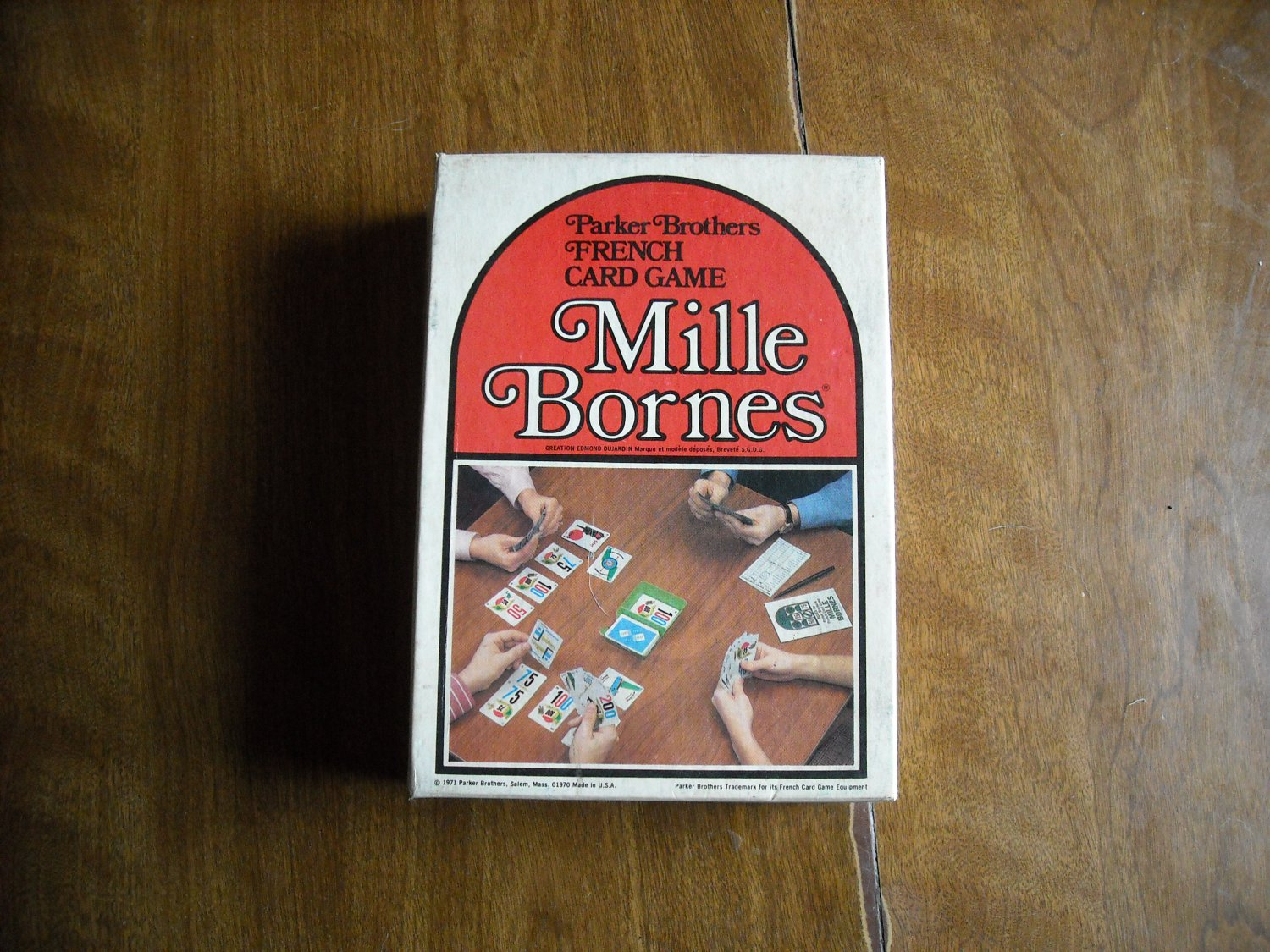 Mille bornes parker brothers french card game 1971 for Dujardin 1000 bornes