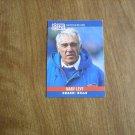 Marv Levy Buffalo Bills Head Coach Card No. 48 - 1990 NFL Football Card
