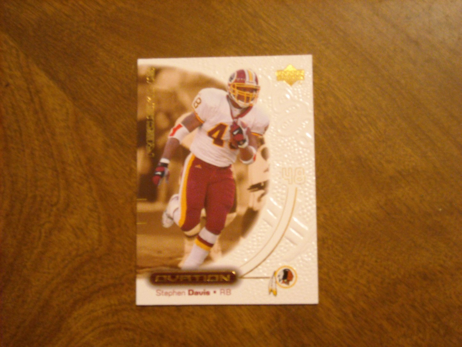 Stephen Davis Washington Redskins RB Card No. 60 - 2000 Upper Deck Ovation Football Card
