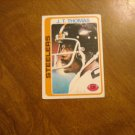 J. T. Thomas Pittsburgh Steelers CB Card No. 124 - 1978 Topps Football Card
