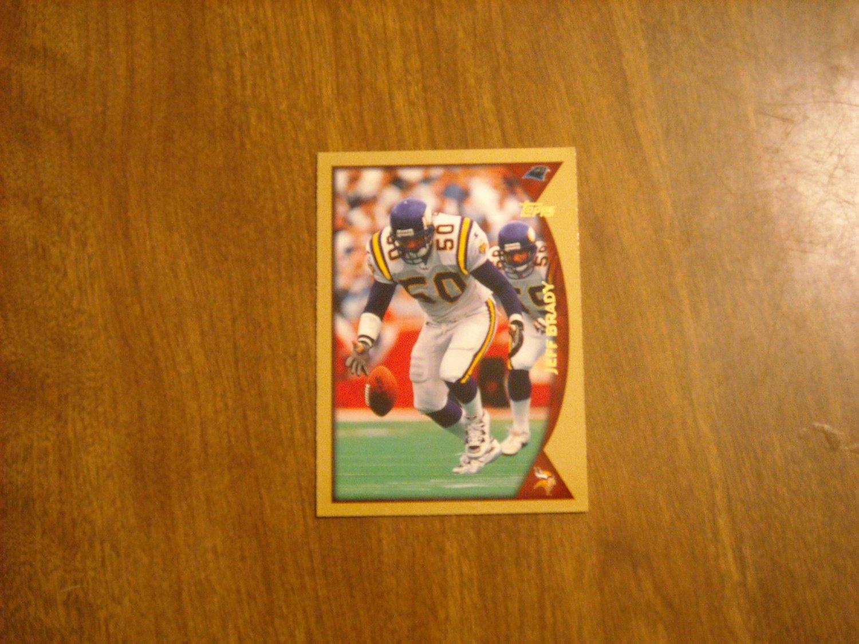 Jeff Brady Carolina Panthers LB Card No. 36 - 1998 Topps Football Card