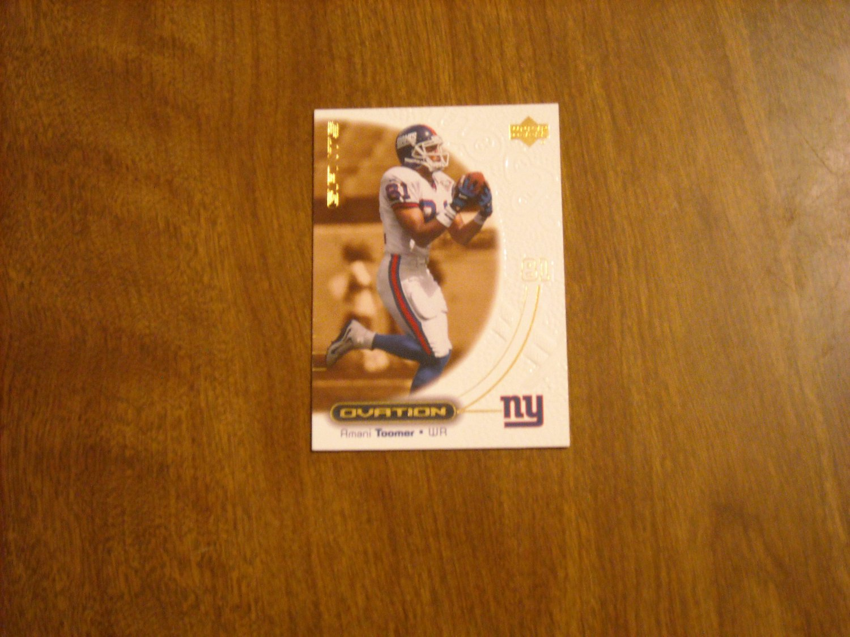 Amani Toomer New York Giants WR Card No. 38 - 2000 Upper Deck Ovation Football Card