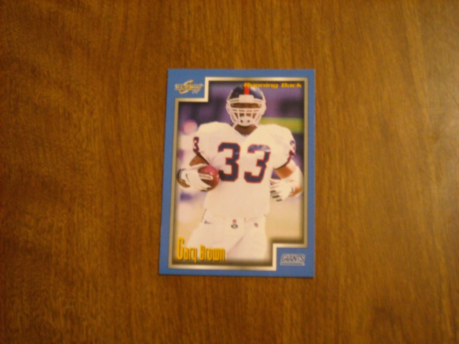 Gary Brown New York Giants RB Card No. 35 - 1999 Score Football Card
