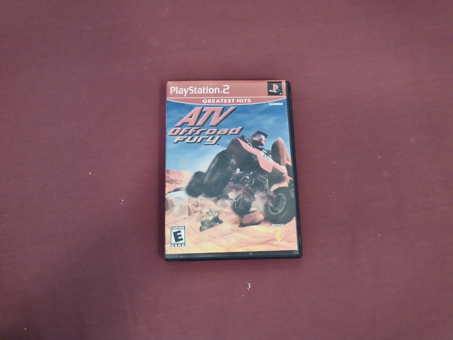 ATV Offroad Fury PS2 PlayStation 2, Rated E 2001 Sony DVD Game (mw)