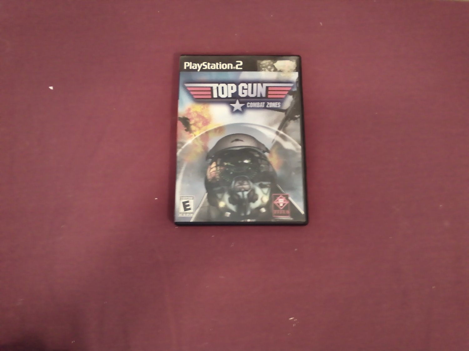Top Gun Combat Zones PS2 PlayStation 2, Rated E 2001 Titus DVD Game (mw)