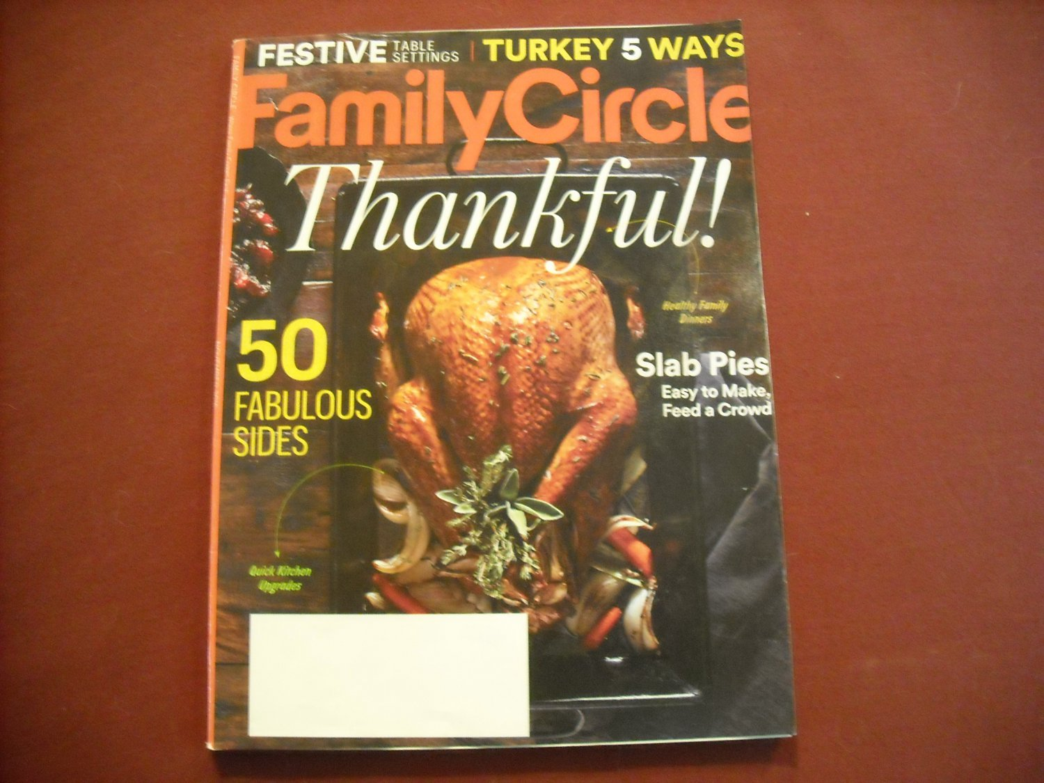 Family Circle Magazine November 2016 Volume 129 Number 11 - Thankful! (G1)