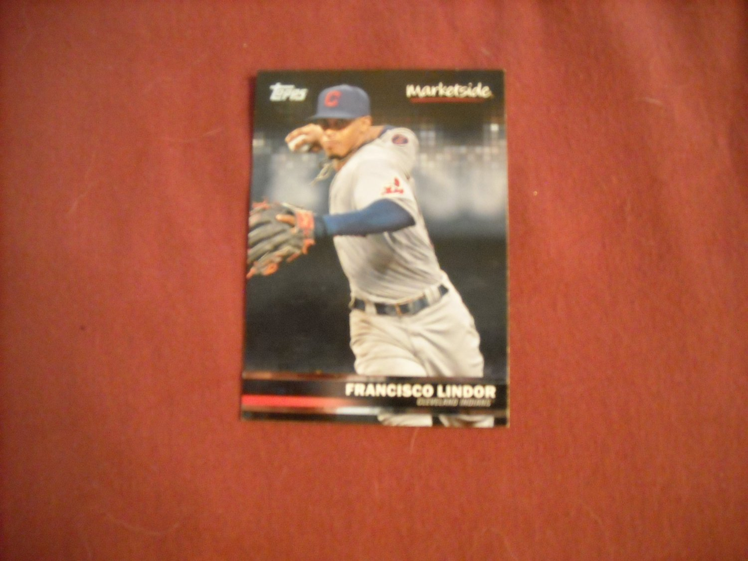 Francisco Lindor Cleveland Indians Marketside Card No. 18 - Topps 2016 Baseball Card