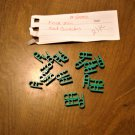 KNEX Micro Green Connector Ends - Part Number 509012 - 21 Piece