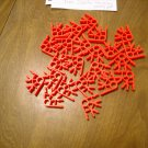 KNEX Neon Fluorescent Red 3 Position Connectors Part Number Not Found - 23 pieces