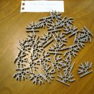 KNEX Standard Dark Gray 4 Position Connector - Part Number 909091 - 25 Pieces